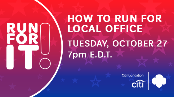 Don't miss the 'How to Run for Local Office' virtual event! You will: 💁‍♀️Be a part of an empowering discussion! 📗Get a guidebook on how to make a difference in your community. 🤩E-meet women leaders. bit.ly/3iOgk3u