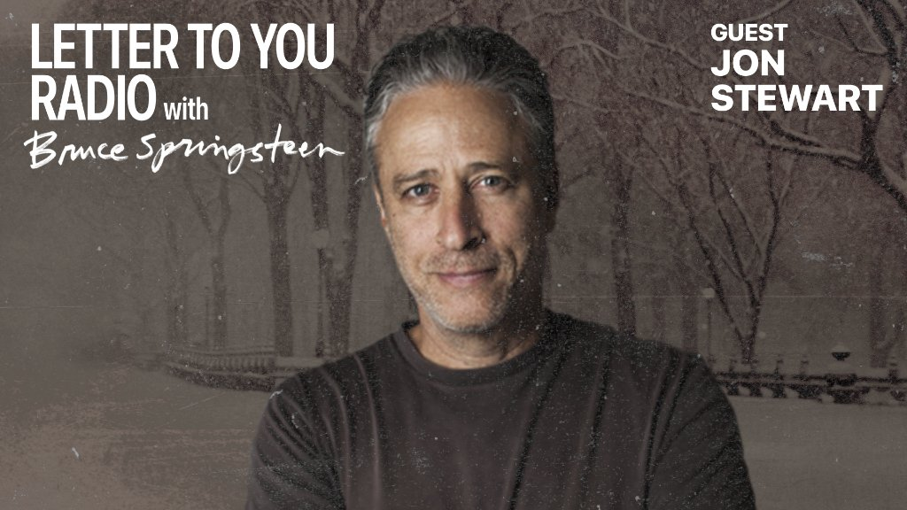 A must hear conversation about the intersection between music and politics.  Jon Stewart joins Bruce @springsteen on #LetterToYou Radio.  Listen: https://t.co/RJOIFOgUm0 https://t.co/yLPHkSdzka