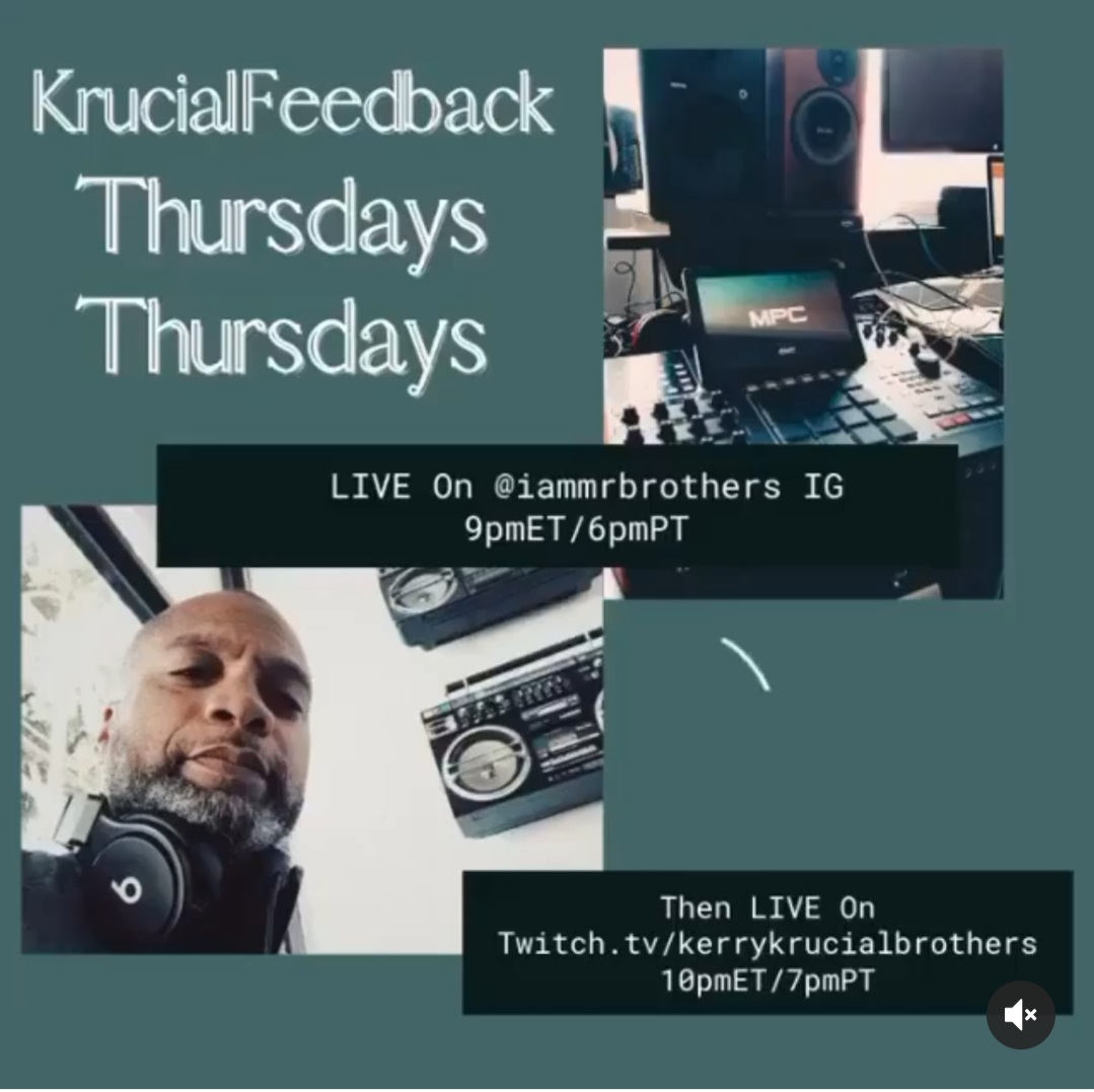 Everyone Tune-In today at 9pm Eastern Time. Krucial Feedback by the man himself @iammrbrothers  . Email your Music to Krucialfeedback@gmail.com !!   #musicstudio #hivemindproducer #trap #hivemindthehitmaker #studiolife #musicproducers #artist #beatmaking https://t.co/RSDc3mmpiz