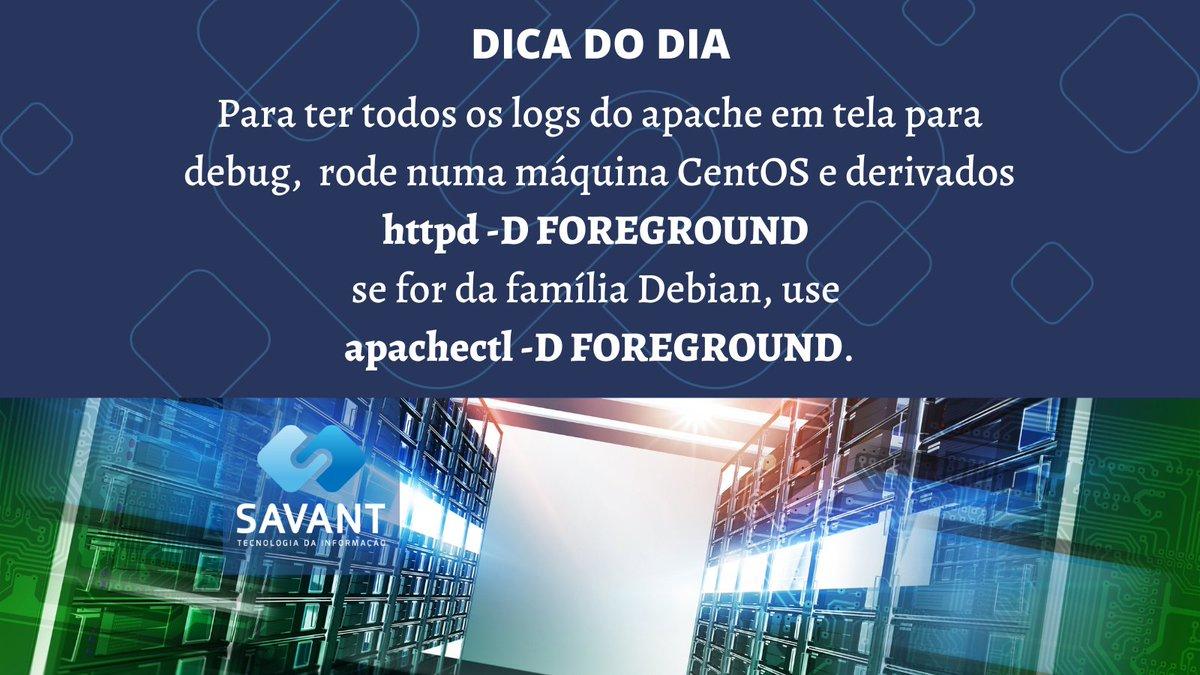 Fica a Dica...#savanttecnologia #linux #unix #centos #Debian #datacenter #DevOps #IaC