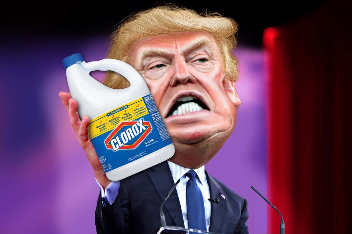 Biden reminds people Trump told us to take bleach to treat the virus.