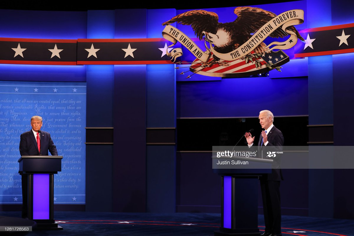 U.S. President Donald Trump and Democratic presidential nominee Joe Biden participate in the final #PresidentialDebate2020 at Belmont University. This is the last debate between the two candidates before the election on November 3. 📷: @sullyfoto https://t.co/3feIIUtY2h