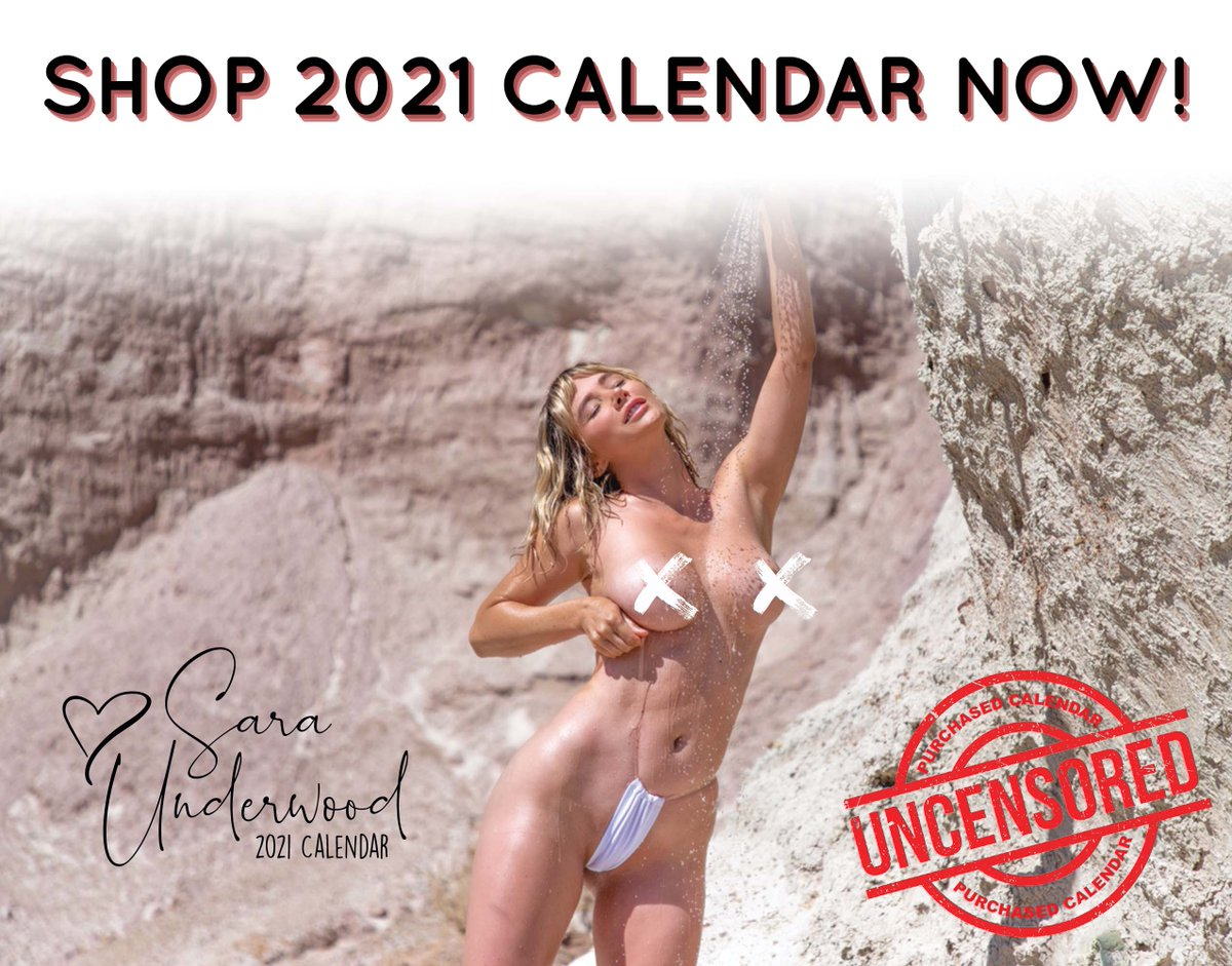 This years calendar is your first and last chance to get an UNCENSORED calendar, so dont miss out! 🔞 saraunderwood.me/2021calendar