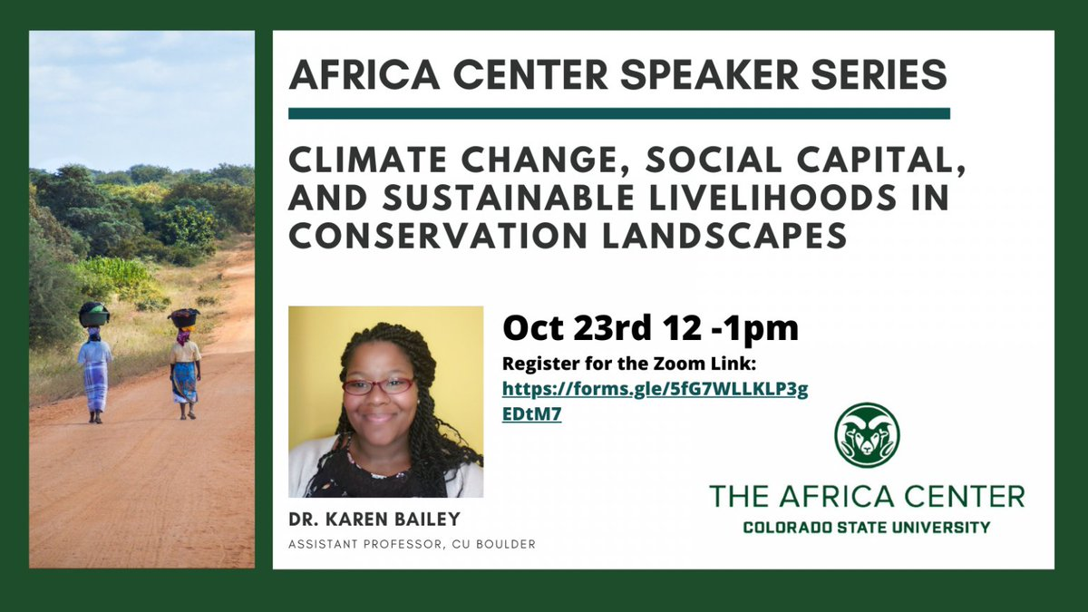 After this Friday's episode of #Youth4ClimateLive (register at https://t.co/es2uKStihr!), why not check out this awesome virtual lecture  from @CUBoulderENVS Assistant Professor  @karnebe? 🌍💚  Add it to your calendar here 📅: https://t.co/SbQUMQkt1m  12:00 PM MT/ 2:00 PM EDT https://t.co/ToISYxKiLK