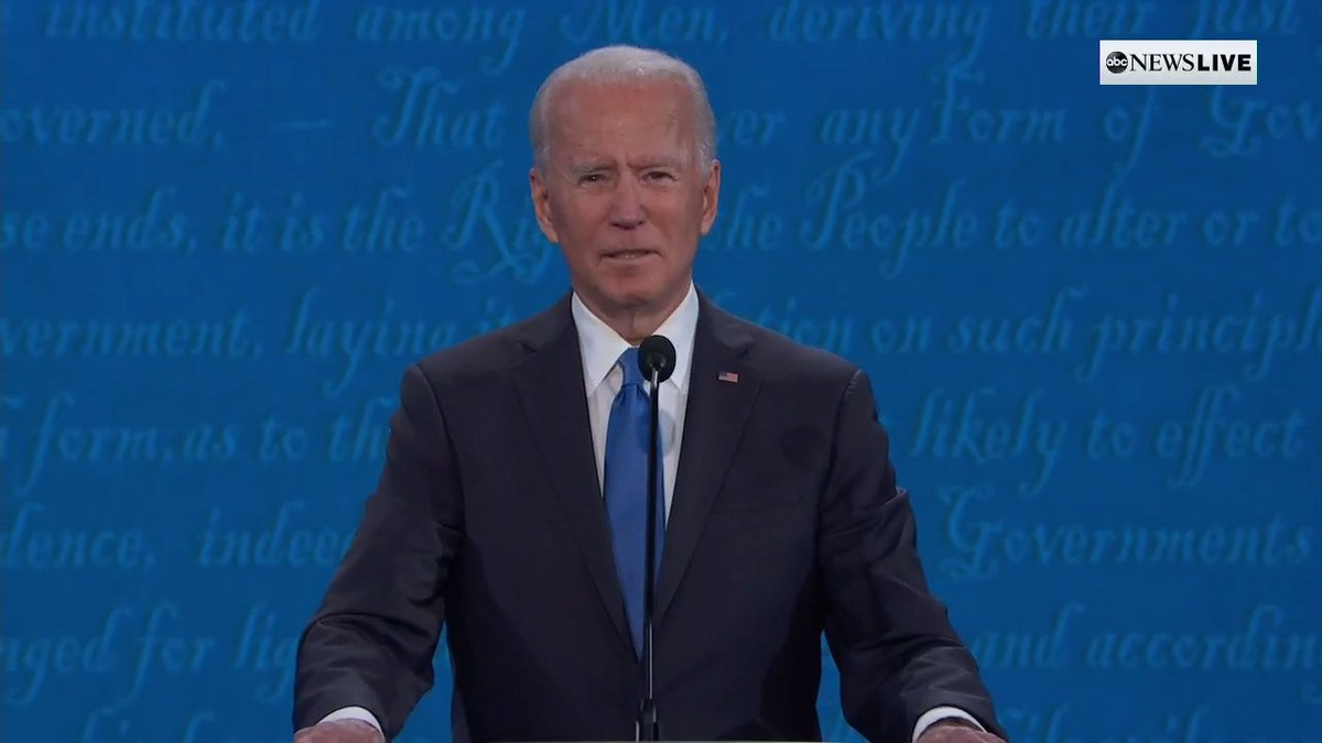 Trump mocked Biden as a 'typical politician' for trying to speak to American families in the final presidential debate