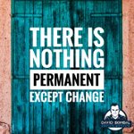 Image for the Tweet beginning: There is nothing permanent except