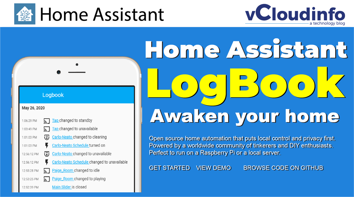 Learn all about the Home Assistant LogBook! (https://t.co/V5fgqsHGdo)#youtube #throwback #IOT #SmartHome https://t.co/pv6r714R5U