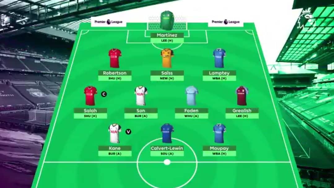 GW6 Scout Selection. #FPL #Fantasy #EPL #Football #Elneny #Kane #DCL #Maupay #Salah #Son #Foden #Grealish #Robertson #Saiss #Lamptey #Martinez #Spurs #England #Everton #Liverpool #Egypt #Korea #ManCity #AstonVilla #Wolves #UK https://t.co/9mrikDnSs1
