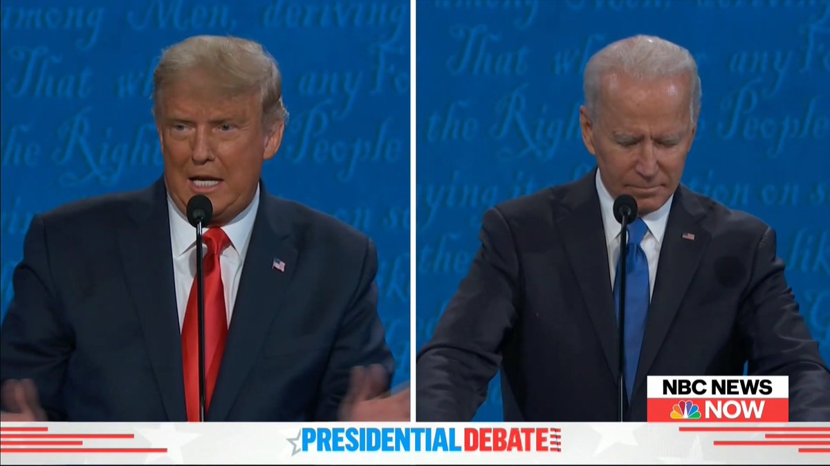 """""""[Joe Biden has] been in government for 47 years, he never did a thing."""" -@realDonaldTrump"""