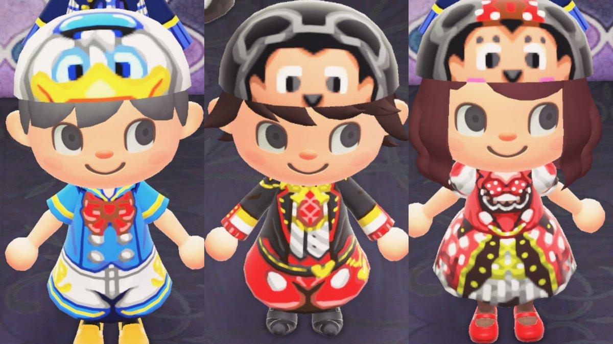ディズニーよりミッキーマウス、ミニーマウス、ドナルドダックをイメージした服を作りました!ミッキーとミニーはミラクルニキのデザインを参考にしてます♪#マイデザイン #どうぶつの森 #あつ森 #ACNHDesigns #ディズニー #Disney #ミッキー #ミニー #ドナルド