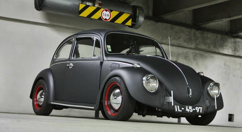 Matte Black Cal-Looker [VW Beetle] #bugatti #ferrari #porsche @cars https://t.co/J5m044I5Ef