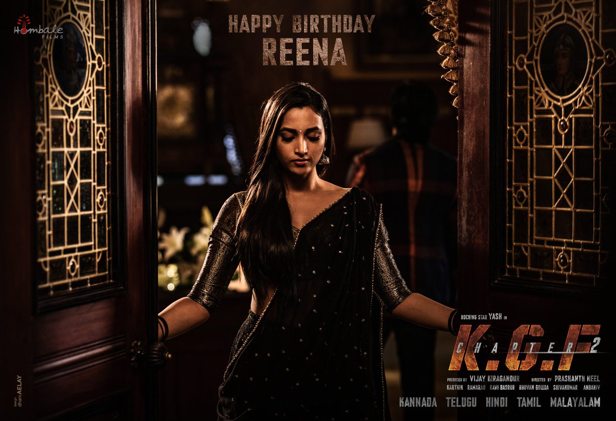 Can Love and Brutality Coexist.....? ❤️⚔️  Wishing our Reena, @SrinidhiShetty7 a very Happy Birthday.  #HBDSrinidhiShetty #KGFChapter2 https://t.co/UrmwUKFgkS