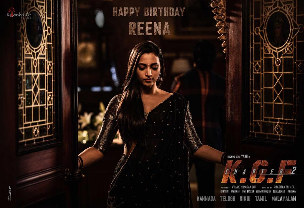Can Love and Brutality Coexist.....? ❤️⚔️ Wishing our Reena, @SrinidhiShetty7 a very Happy Birthday.  #HBDSrinidhiShetty #KGFChapter2 https://t.co/JS4xqHHXL4