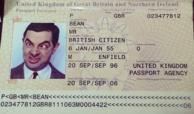 Movie Details On Twitter In Mr Bean 1997 Mr Bean S Passport Reveals That His Given Is Actually Mr