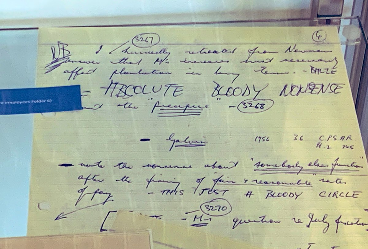'Absolute Bloody Nonsense' R.J. HAWKE  Great new displays in the @TheHawkeCentre #PackerGallery with some fascinating #archival material from the #BHPML collections. Love #BobHawke's handwritten notes here 🤣  #SpecialCollections #UniSALibrary #Archives https://t.co/7STrlbV6Hg