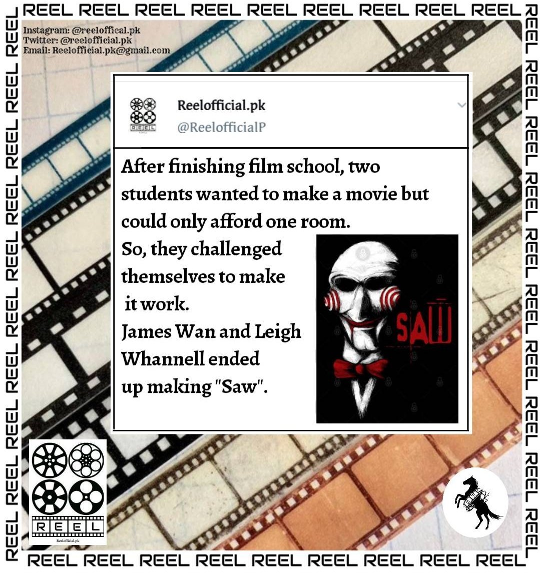 FILM FACTS #FilmTwitter #Hollywood #pakistan #morning #films #quotes #facts #fun #SAW #actress #actor #jameswen #JamesBond #leighwhannell https://t.co/VuJiM3D6dJ