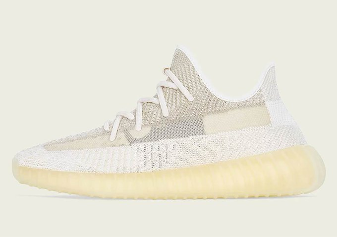 The adidas Yeezy 350 'Natural' is set to launch on 10/24! You copping or passing? bit.ly/Sneaker_News