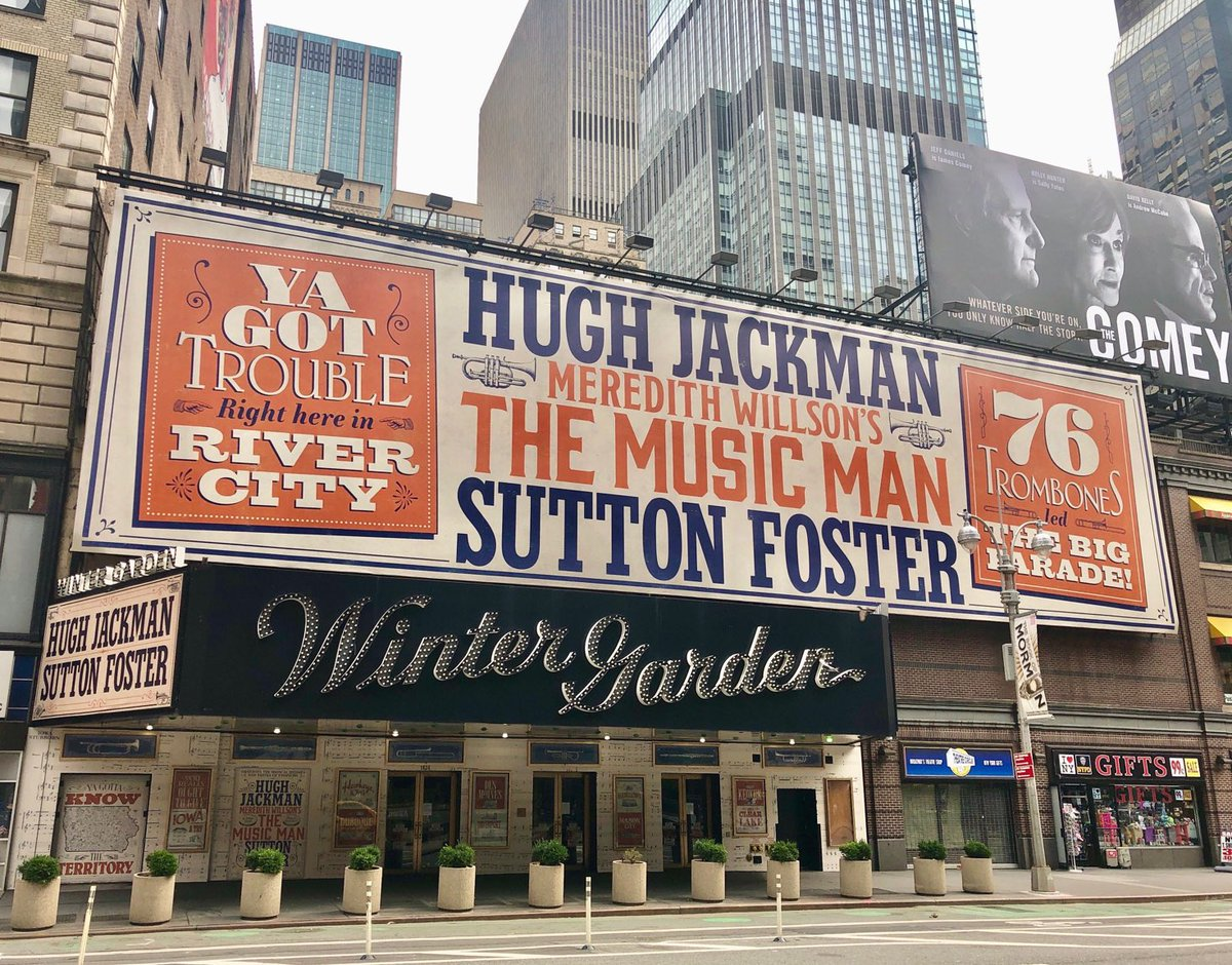 WooHOOOO!  I got the email today - my tickets for #TheMusicMan on Broadway will now be in March 2022.  And.   I.  CANNOT.   Wait! 🎉🎶🎵      This is the 2nd postponement.    But @RealHughJackman & @sfosternyc make it all worthwhile!