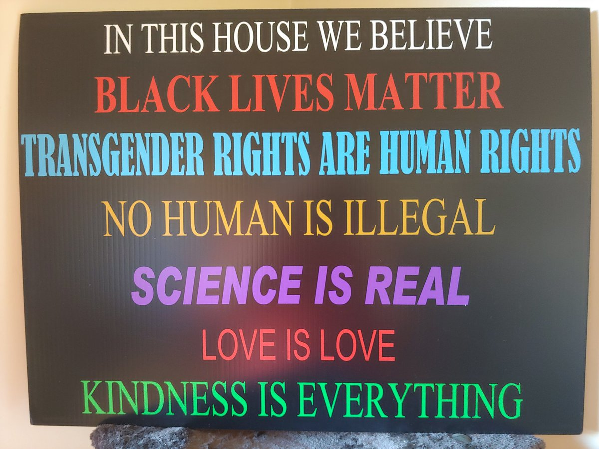 A friend of mine had made special for me, then they sent it to me from Ohio. #TransRightsAreHumanRights #BlackLivesMatter #ScienceIsReal #NoHumanIsIllegal #LoveIsLove #KindnessIsEverything https://t.co/GUy8hvW2Wg