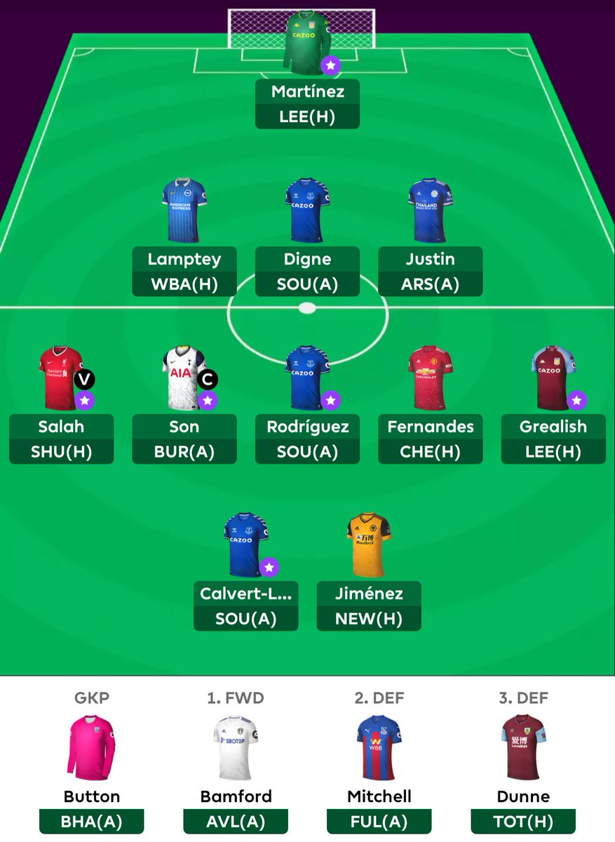 #FPL_Khai Team reveal. OP 335/ OR 149k/ WC on GW3/  About to get rid Bamford for Brewster. Then hit Jimenez to Kane (C)  Please dont ask why I got so many premium. WC early is the key 🤙 https://t.co/8HLBLAXMO1