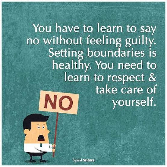 You Can be a Good Person with a kind heart and Still say NO...Learn the art of saying No...Don't lie....Don't make Excuses....Don't Over-Explain Yourself.... ......Just SIMPLY DECLINE !!!  #JoyTrain #WednesdayWisdom  #NoMeansNo #No #loveyourself  #mindfulness @gary_hensel https://t.co/L6XyDreL9z
