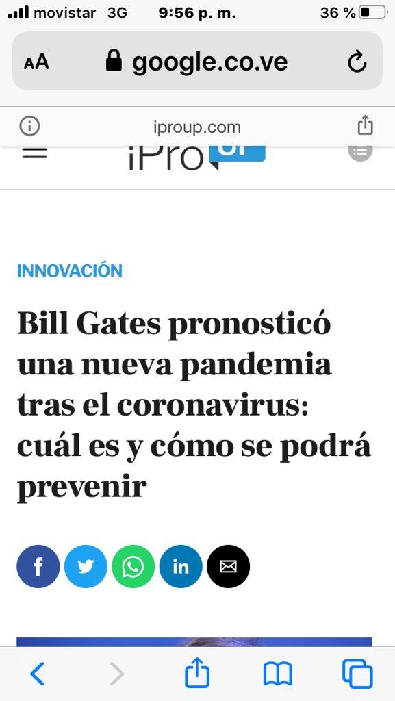 en agosto de 2020, que habrá una nueva pandemia?  El covid19 no es un virus de la naturaleza, porque es imposible que un murciélago en una cueva en china se infectara de VIH. Ese virus fue fabricado en Wuhan.  Ahora como salió? Quizás nunca se sabrá. Lo que sí es cierto es que https://t.co/r07PyXb2Sv
