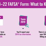 Image for the Tweet beginning: The 2021–22 FAFSA® form has