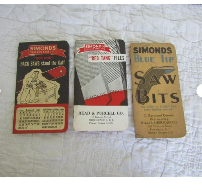 3 Simonds Pocket Size pads, vintage advertisement, tools, free shipping  $22.95 These can be found in our Etsy shop.... https://t.co/GzP8oAy6Ev #TMTinsta #lot #set #advertisement #pads #paper #vintage #freeshipping https://t.co/1U4o9shFPT