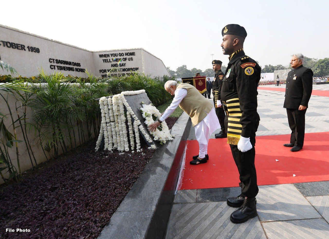 Police Commemoration Day 2020: Prime Minister Narendra Modi on Wednesday paid homage to the police personnel who laid down their lives.