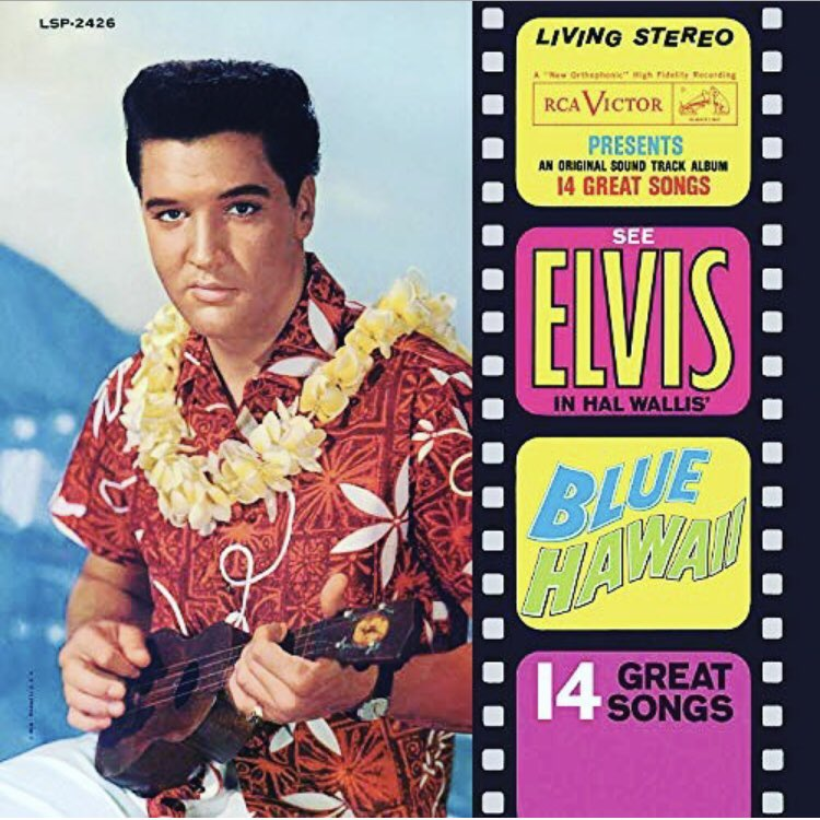 Today in 1961, #ElvisPresley released his 4th full-length soundtrack LP, #BlueHawaii.   Featuring the big hit #CantHelpFallingInLove—as well as #RockAHulaBaby & the title track—#BlueHawaii was a #1 hit & the best-selling album of #Elvis's lifetime.  It has since gone 3x platinum. https://t.co/SifjZFn48y