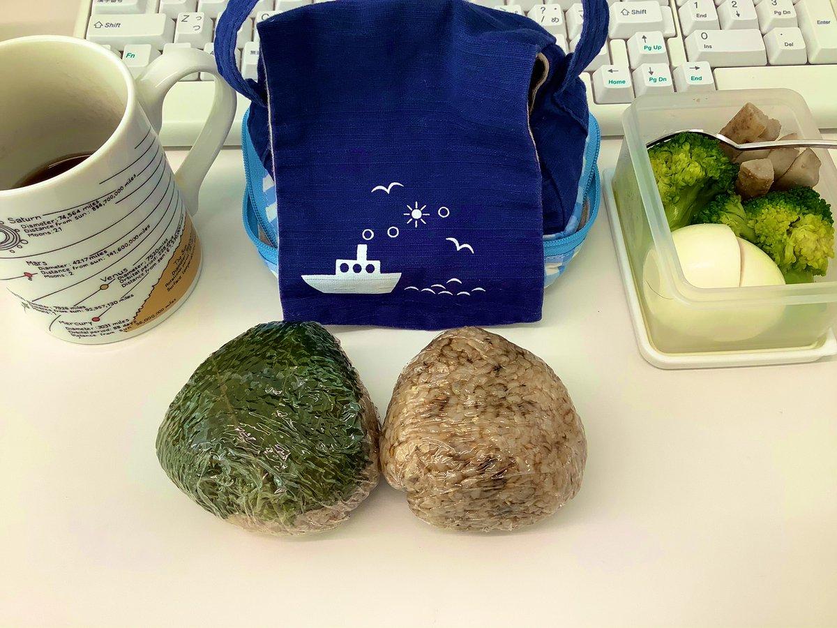 おにぎりランチ。山椒まぶしただけで、鰻重ぽい💕#OnigiriAction