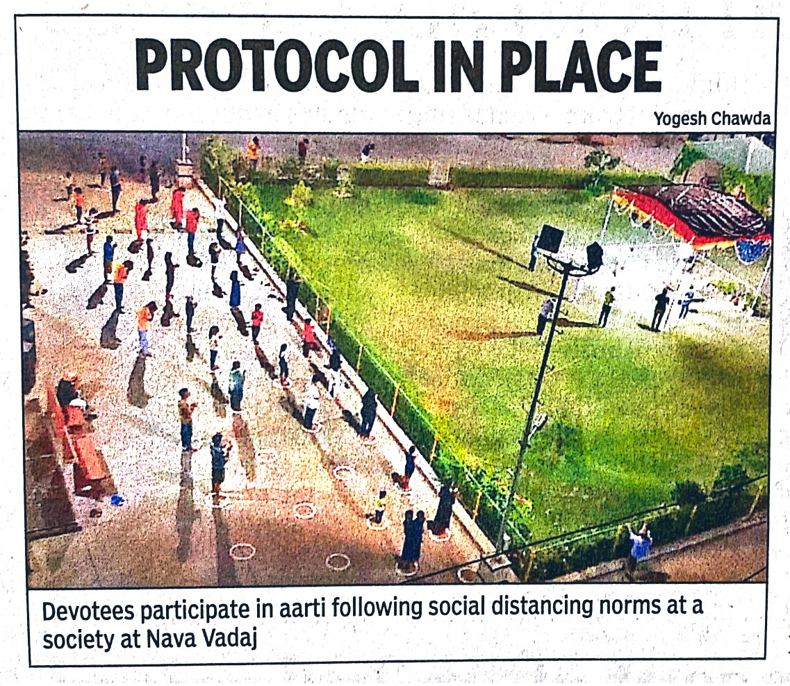 AMC Social Distancing & Use of Mask is must Protocol in ongoing Corona Pandemic. (Pic: TOI, Ahmedabad)