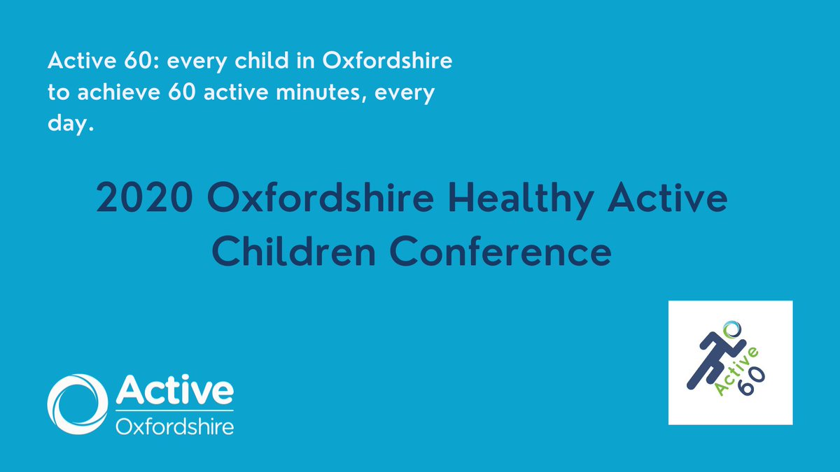 How can we work together to get #Oxfordshire children active & protect their physical & mental wellbeing? Find out more about the 2020 Oxfordshire Healthy Active Children Conference here 👇 https://t.co/sUyw9mziTI @OxfordSpiresAc @SchoolEOPS
