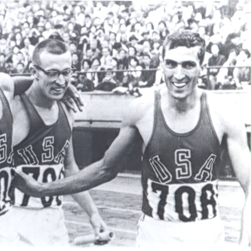 10/21/1964: Ollan Cassell (Appalachia High School) runs the first leg on the Gold Medal-winning 4x400 relay team at the #Olympics in Tokyo. More on his golden journey from the coal camp of Pardee, Va. to #ETSU to Houston to the top step of the podium in Sunday's @HeraldCourier: https://t.co/2n08YFsofR