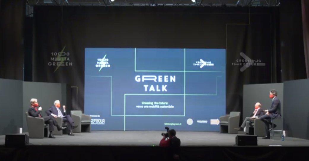 A #GreenTalk presidente Franco #GussalliBeretta: @millemiglialive è stata un grande motore propulsore dell'industria e delle infrastrutture #madeinitaly. E' la gara più bella del mondo ma anche promotore del futuro della mobilità. #emobility https://t.co/rQdgoGDtT3