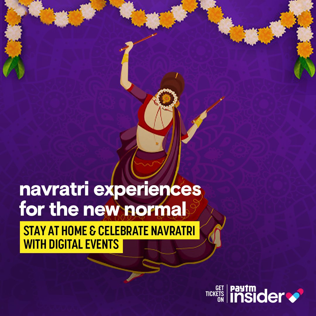 Dress your best, dance your best and enjoy your best with #virtual #Navratri celebrations on Paytm Insider! Celebrate your favourite festival, enjoy #garba in a safe way from home. Events and tickets: https://t.co/RbHrvfwu9b https://t.co/nGg48hsmmf