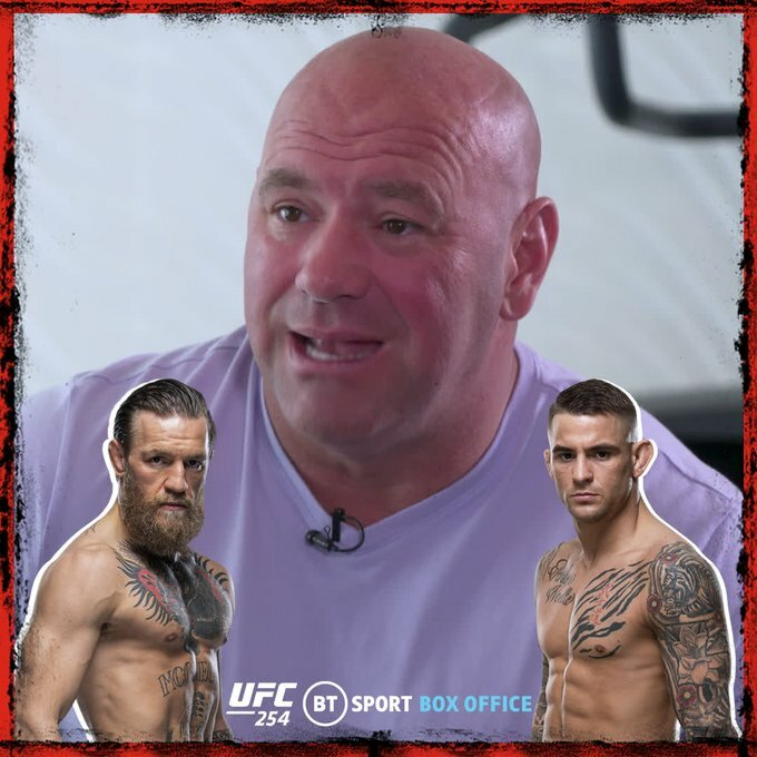 Dana White says @TheNotoriousMMA and @DustinPoirier's rematch has to happen at 155lbs, otherwise the fight means nothing 🤷‍♂️ https://t.co/83BgAYRPyo   #UFCFightisland3 #UFC252 #UFCFightnight #Bellator242 #UFC253 https://t.co/QICvXq9TC1