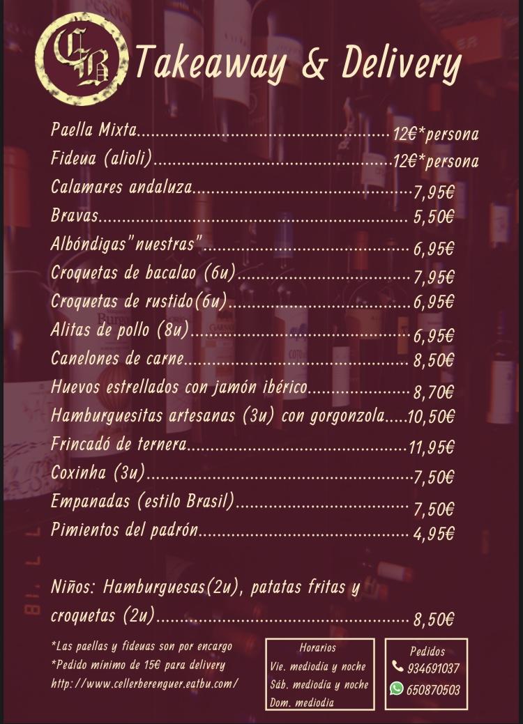 @CellerBerenguer CARTA - VINOS  #montgat #tiana #barcelona #badalona #masnou #teia #montgatterotllo #montgatcanta #mataro #restaurant #catalunya #food #musica #vilassar #premia #gin #coctel #menu #tapas #bcn #bdn #directos #montgatcanta #delivery #takeaway https://t.co/uMcSsntB8M
