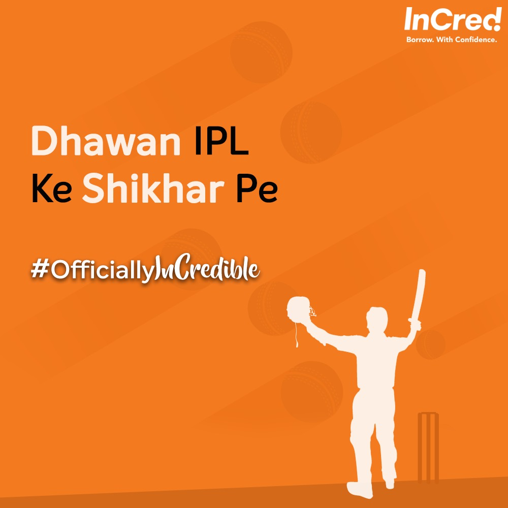 Congratulations to the InCredible @SDhawan25, the first player in IPL to score two consecutive centuries. . . . #InCred #IPL #IPL2020 #IPLFever #IndianPremierLeague #ShikharDhawan #ManofTheMatch #DelhiCapitals #Batsman #Trending #Cricket #Match #CricketSeason #Fintech #Loans https://t.co/nR4wcCdqmi