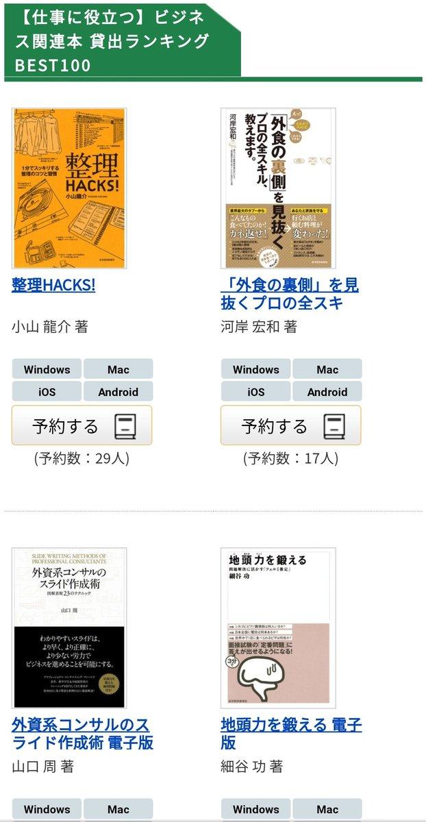 千代田区のWeb図書館がすごすぎる。本を借りるために、場所や時間は問わず、簡単に電子書籍が借りれる。完全に無料で借りられる。返却も自動で忘れることもない。本当にすごいなって思うところは絵本や小説だけでなく参考書や今年出版されたビジネス書までもある。もちろん英語の本もある。すごい