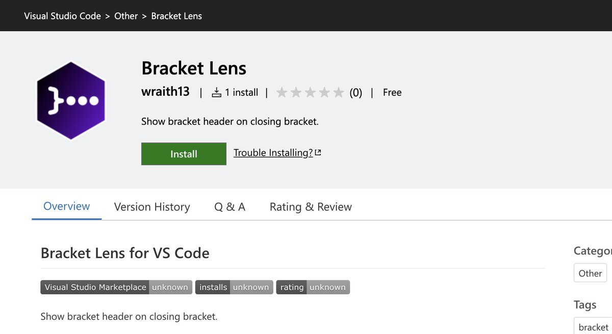 Visual Studio Code 拡張の Bracket Lens v1.0.0 をリリースしました。閉じ括弧の後ろにそのスコープがなんのスコープなのかを全自動で表示します。
