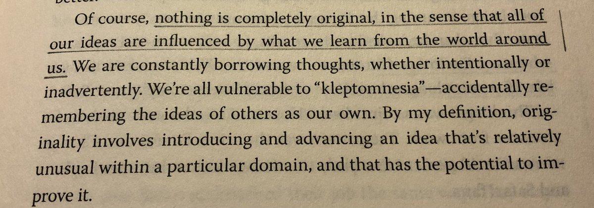 """ nothing is completely original."" —@AdamMGrant #Originals https://t.co/lqIJdYyziU"