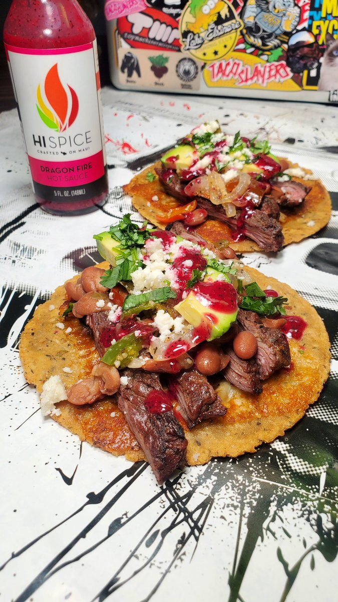Carne asada tacos with @hi_spice #dragonfire #hotsauce !! #TacoTuesday (day462) https://t.co/60bpQWOPx4