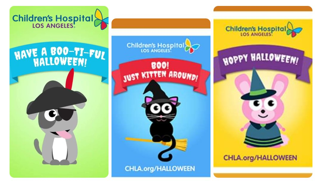 Each year I participate in sending cards to the kids at @childrensla For every card sent before Oct. 29 2020 $1 will be donated to CHLA! Bring some of the Halloween fun to them via   #halloween #childrensla #SocialGood #wegotthis #makeadifference