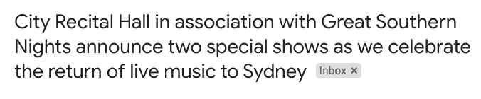 It's now 20 weeks that I've been attending & reviewing live shows in Sydney. Great Southern Nights is a good boost but must its marketing erase the leap that game smaller venues made, despite confusing/scary COVID regulations, when they started doing shows in June? https://t.co/2SoMzKytJU