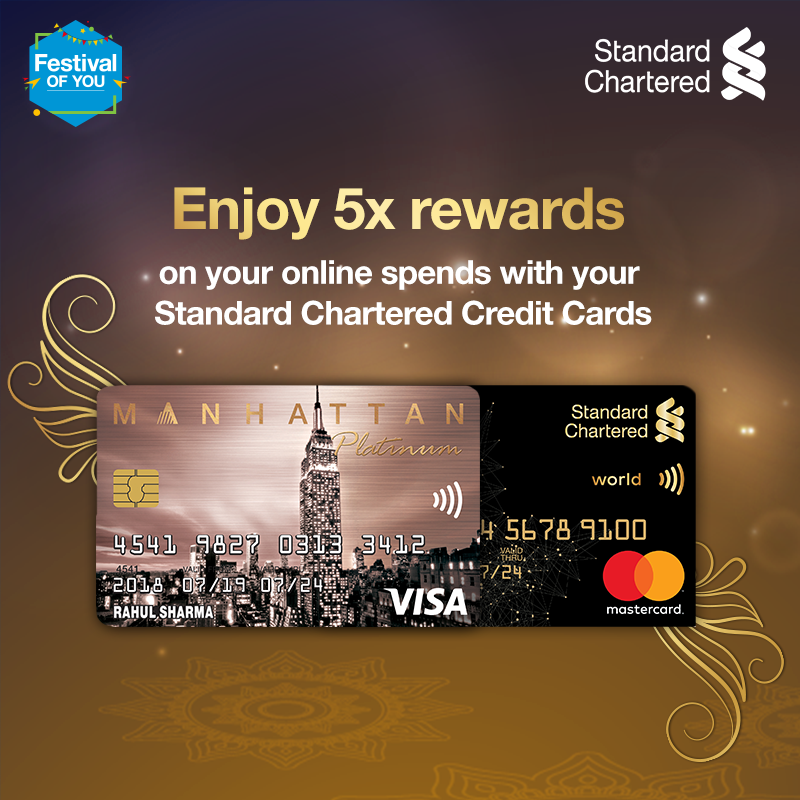 This time of the year calls for indulgence. Enjoy this festive season & celebrate the #FestivalOfYou! Get 5X reward points on online spends with your Standard Chartered credit cards! Offer valid from 16 Oct – 22 Oct 2020.   #FestiveSeason #StandardChartered