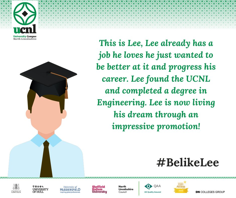 It's still not too late to enrol for this academic year, so you too can #BelikeLee #weareUCNL #whatsstoppingyou #futureself #Epicinthree https://t.co/hgcsicj4n9