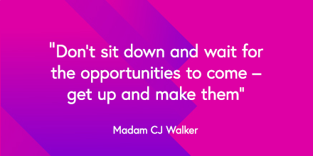 Today we're celebrating the wise words and success of #MadamCJWalker, American entrepreneur, philanthropist, political and social activist.  Read about her success story and how you can follow in her footsteps: https://t.co/7851PEbz5R  #BlackHistoryMonth #Inspire #successstory https://t.co/tgLs7P83qC