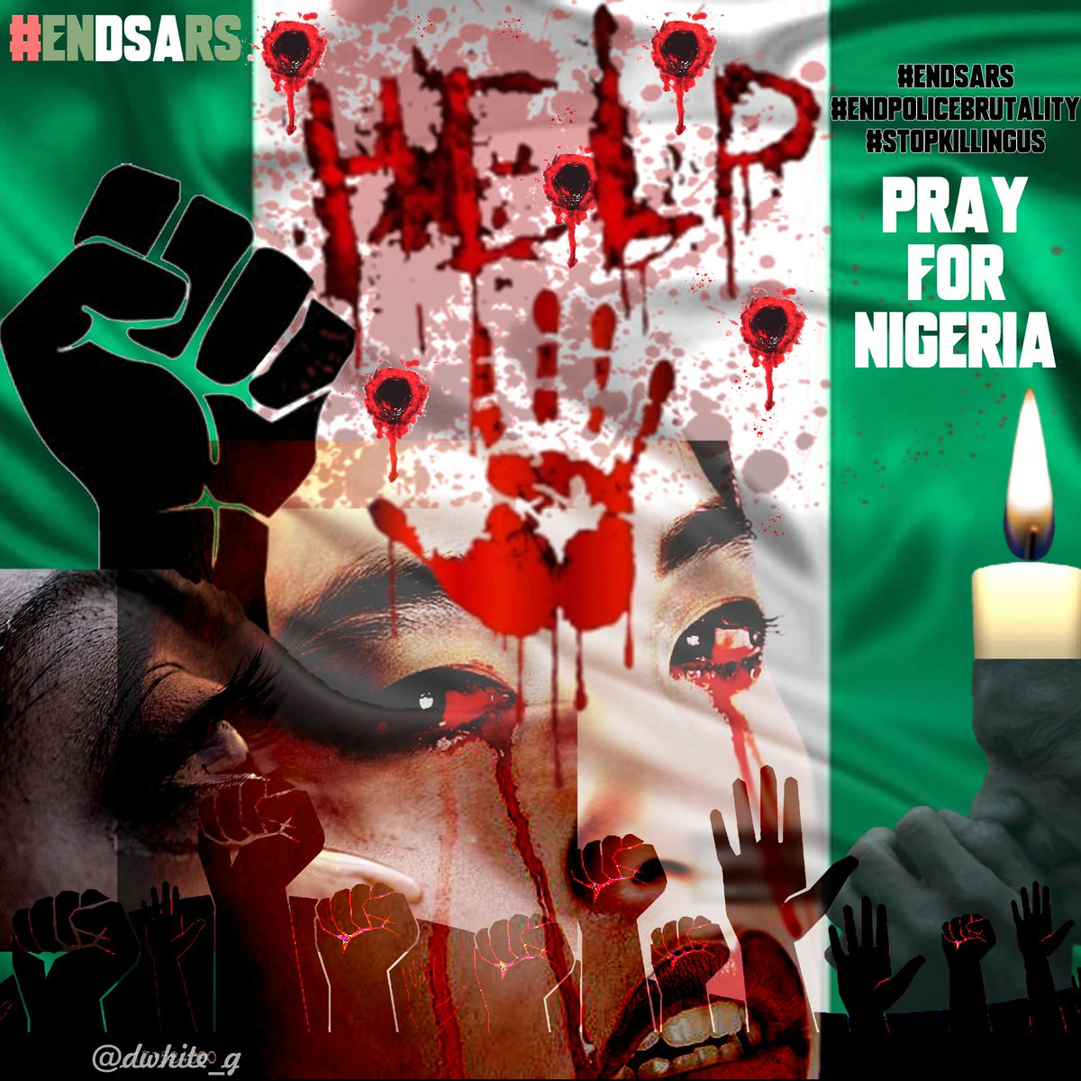 Today 20_10_2020 I feel the pain the most #ourcountry have been stained with blood Our white is now red our green has dried oh What a mysterious #deaths #calamity Youths killing their fellow innocent youths Father's killing their children GOD please help your children  #EndSARS https://t.co/a2jswzIp8n