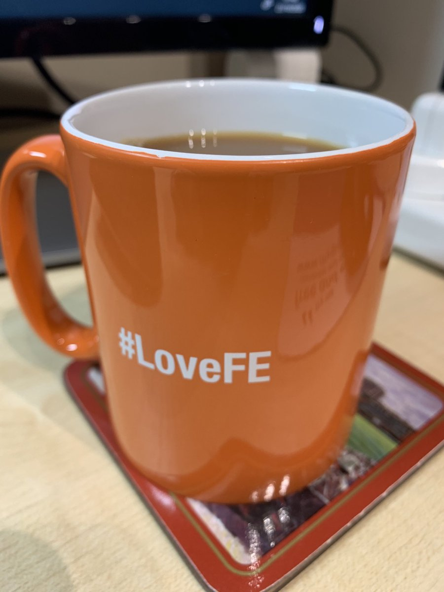 Morning cuppa (no3) in @GatewayQuals mug appropriately finished with #LoveFE for celebrating #LoveOurColleges week.                      Pssst .....Is it too early for a biscuit? https://t.co/IjQhUU362E
